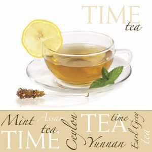 Mint Tea Time Decoupage Napkin