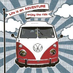 Life is An Adventure Enjoy The Ride Decoupage Napkin