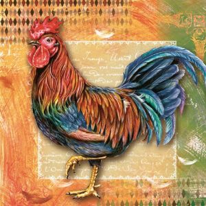 The Rooster Decoupage Napkin