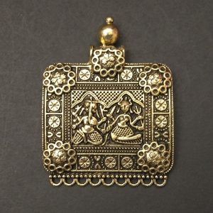 Gold Tribal Deity Pendant