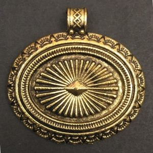 Gold Oval Shape Pendant