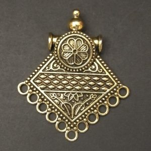 Gold Diamond Shape Pendant