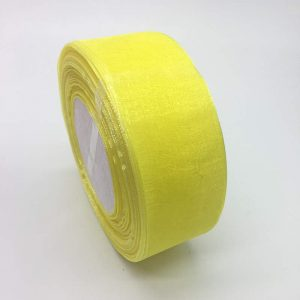 Lemon Yellow Organza Ribbon