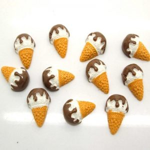 Coffee Cone Ice Cream Resin Embellishment