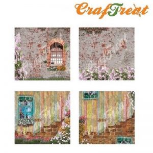 CrafTreat Decoupage Paper - Vintage Window