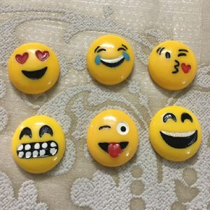 Emoticon Face Resin Embellishment