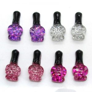 Glitter Nail Polish Resin Embellishment