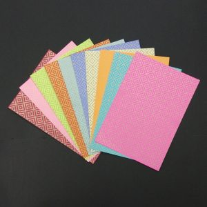 Mixed Colour Club Diamond Pattern Paper