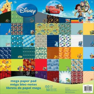 Disney Single Sided Mega Paper Pad 12 x 12 inches