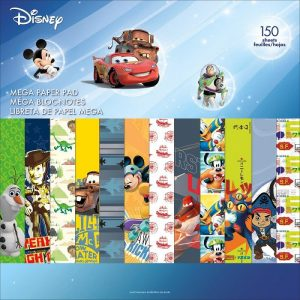 Disney Boys Theme Single Sided Mega Paper Pad 12 x 12