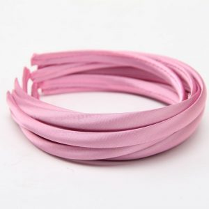 Satin Covered Hair Band Base - Baby Pink