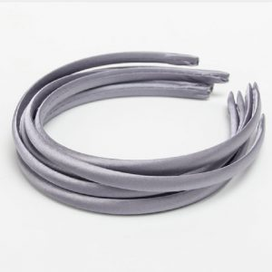 Satin Covered Hair Band Base - Grey