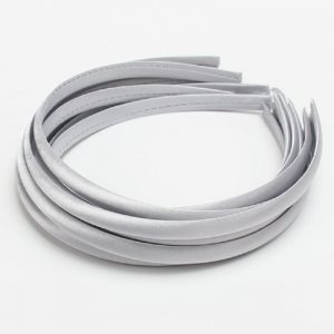 Satin Covered Hair Band Base - Grey Silver