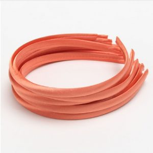 Satin Covered Hair Band Base - Peach