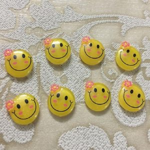 Smiley Face Resin Embellishment