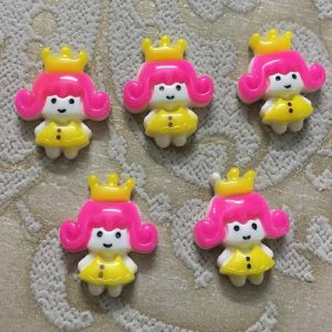 Cute Princess With Tiara Resin Embellishment