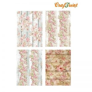 Craftreat Decoupage Paper - Floral Wood
