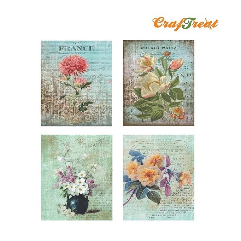 Craftreat decoupage paper flower connect4sale mightylinksfo