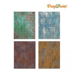 Craftreat Decoupage Paper  - Metal