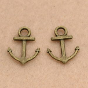 Antique Bronze Nautical Anchor Charm
