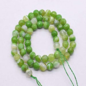 Double Shade  Green with White Agate Beads