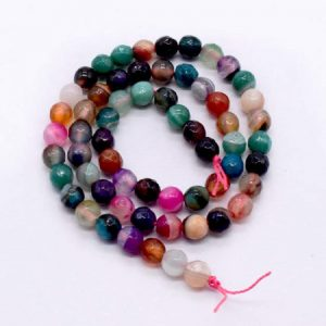Double Shade Mixed Colors Agate Beads