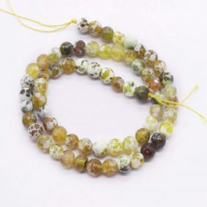 Double Shade Honey Agate Beads