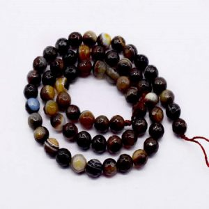 Double Shade Coffee Brown Agate Beads