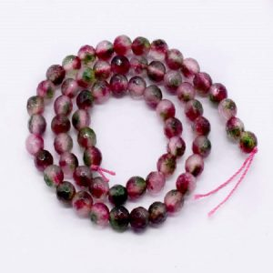 Double Shade Cherry with Orange Agate Beads