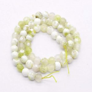 Double Shade White with Yellow Agate Beads