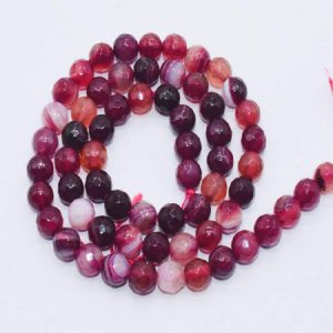 Double Shade Pink Agate Beads