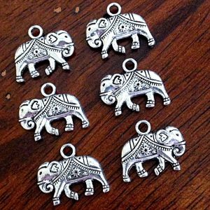 Antique Silver Elephant Charms