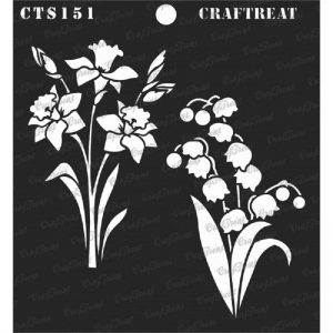 CrafTreat Stencil - Daffodil and Bell Flower