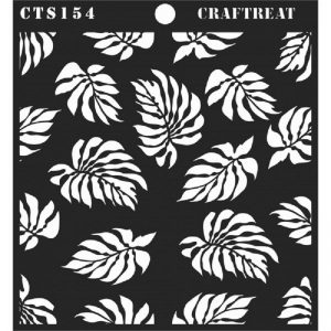CrafTreat Stencil -  Tropical Leaves