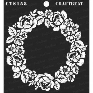 CrafTreat Stencil -  Rose Wreath
