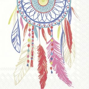 Dream Catcher In White Background Decoupage Napkin