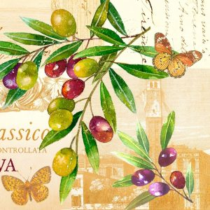 Grapes With Butterfly Decoupage Napkin
