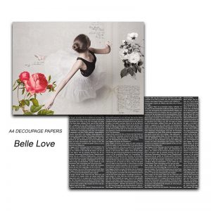 Papericious Decoupage Papers - Belle Love