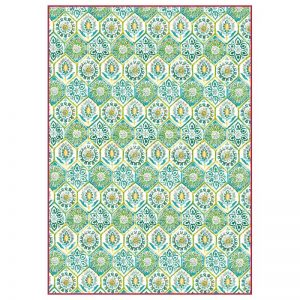 Stamperia Rice Paper - Green Arabesque