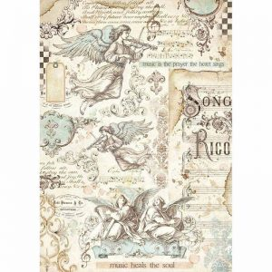 Stamperia Rice Paper - Angels And Music