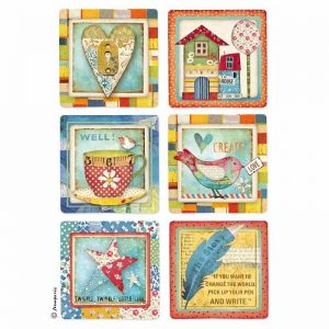 Stamperia Rice Paper - Patchwork Cards