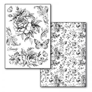 Stamperia Transfer Paper B/W - Roses and Butterlies