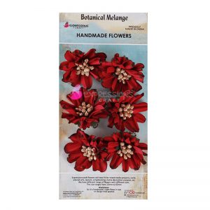 Handmade Wriggled Flower Red