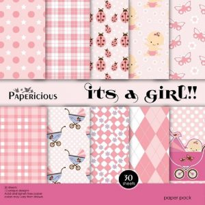 Its a Girl - Papericious Designer Edition 6x6 Paper Pack