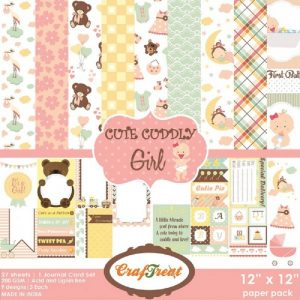 Cute Cuddly Girl - Craftreat 12  x 12 Paper Pack