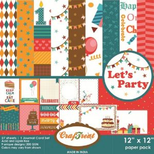 Let's Party - Craftreat 12 x 12 Paper Pack