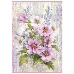 Stamperia Rice Paper -  Liliac Bouquet