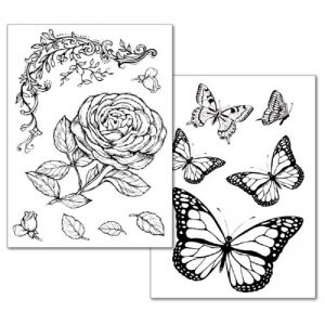 Stamperia Transfer Paper B/W - Roses And Butterfly