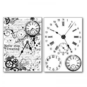 Stamperia Transfer Paper B/W - Watches