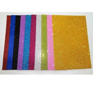 Mixed Colour Glitter Foam Sheets Pack